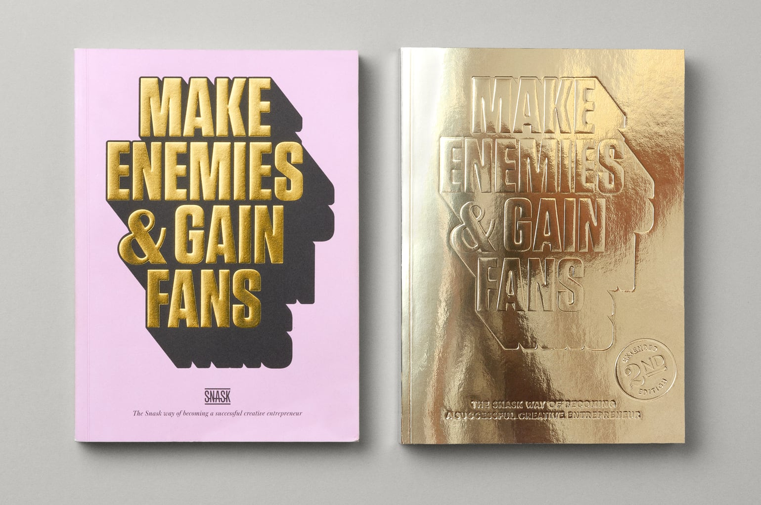MAKE ENEMIES & GAIN FANS — Editorial design for the true and unraveling story about SNASK