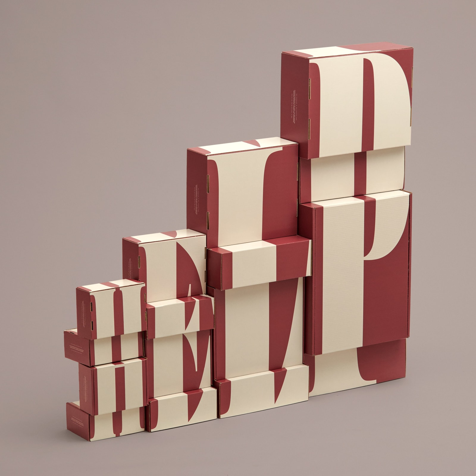 Packhelp — A series of typographic mailer boxes made for Packhelp.