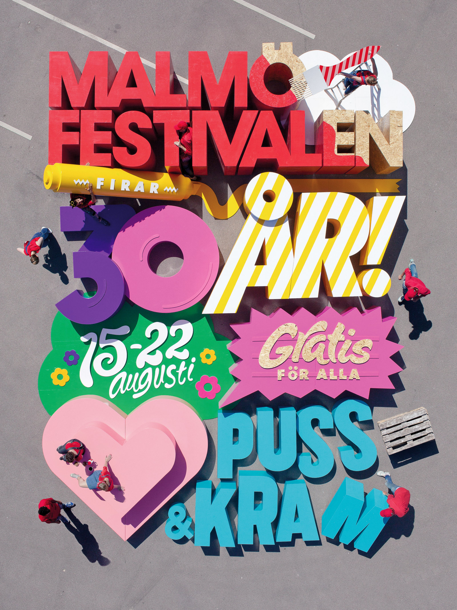 "MALMÖ FESTIVAL 2014 — Art direction and design for the ""world's largest poster"" for Scandinavia's largest city festival"