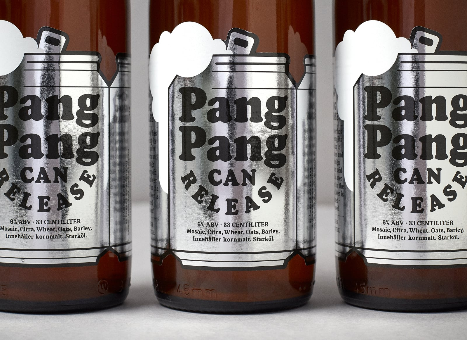 CAN RELEASE — Beer label design for PangPang Brewery