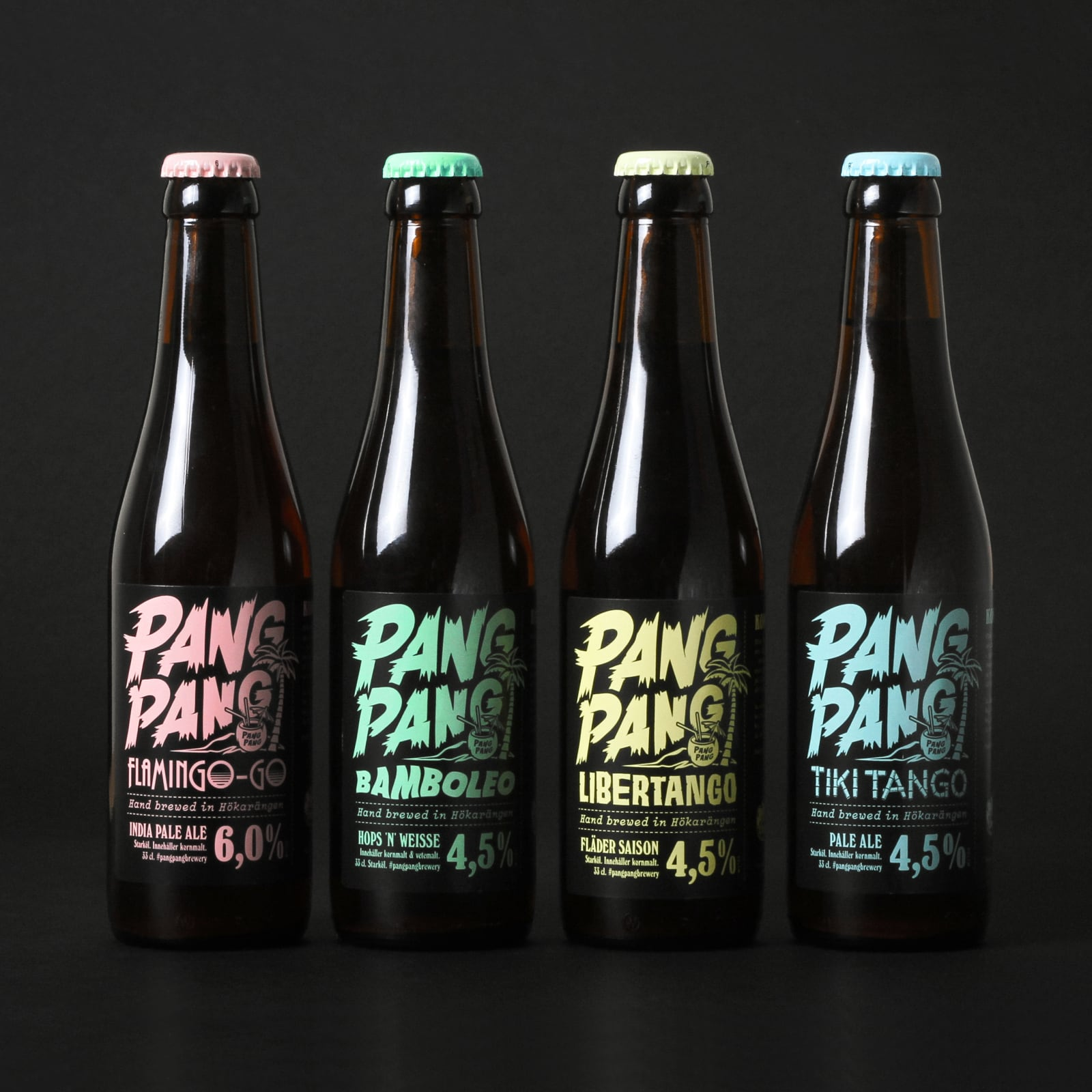 PANGPANG — Packaging for a caribbean beer series for Sweden's #1 microbrewery