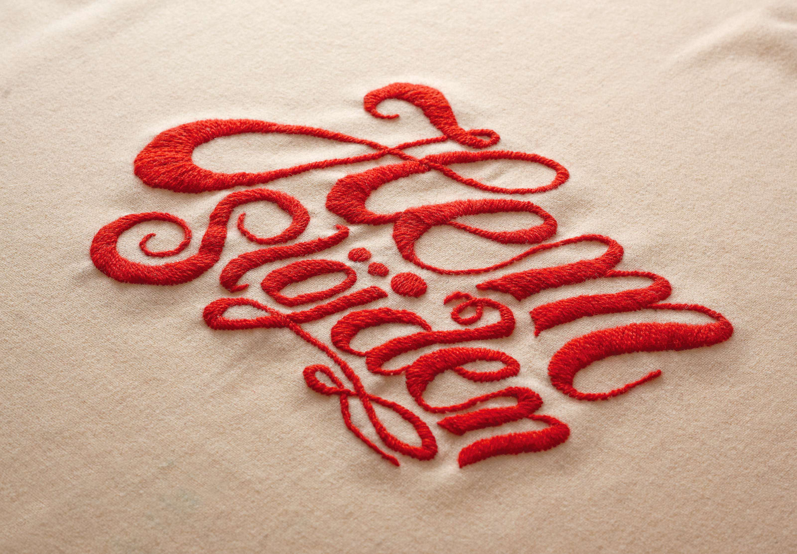 Liljevalchs: Hemslöjden — Exhibition identity - complete with embroided typography - for the Handicraft exhibition