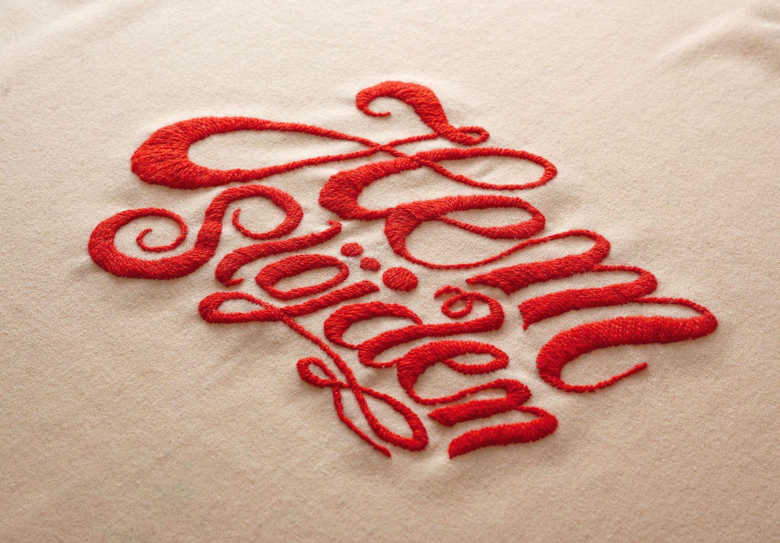Liljevalchs: Hemslöjden — Exhibition identity - complete with embroided typography - for the Handicraft exhibition