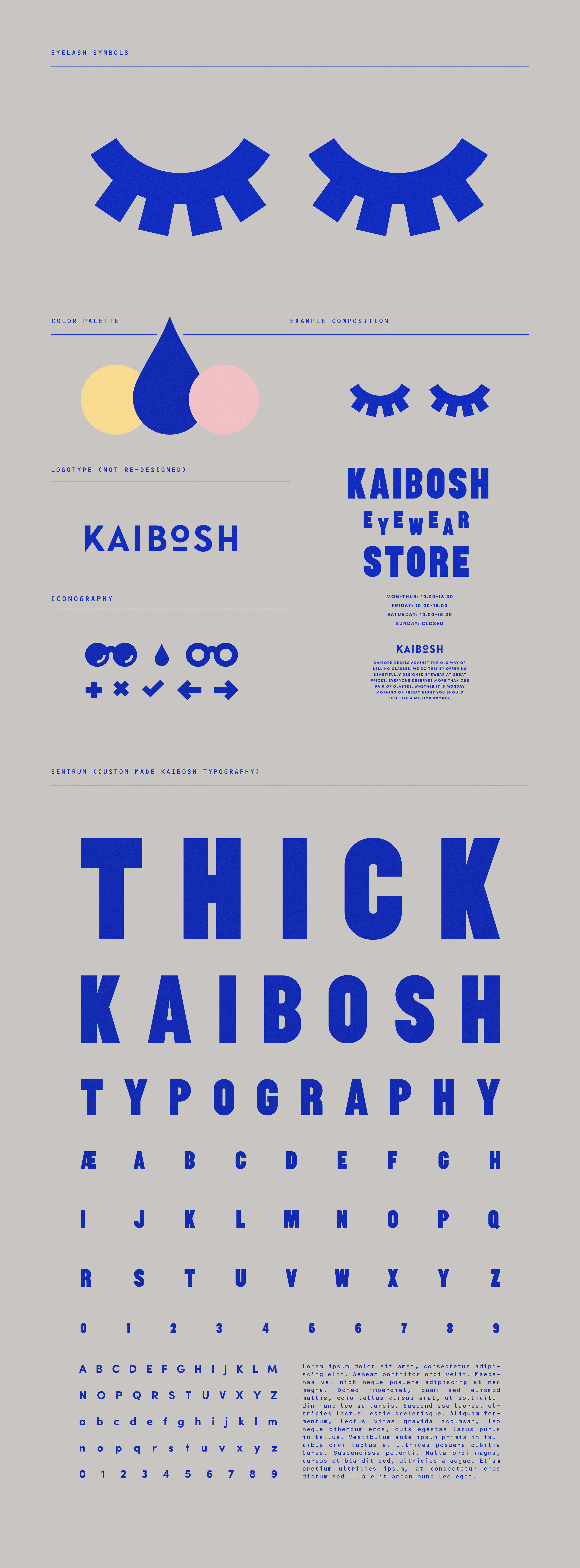 KAIBOSH  Re-Branding, custom made typography and store concept for a